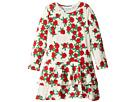 mini rodini - Rose Long Sleeve Frill Dress (Infant/Toddler/Little Kids/Big Kids)
