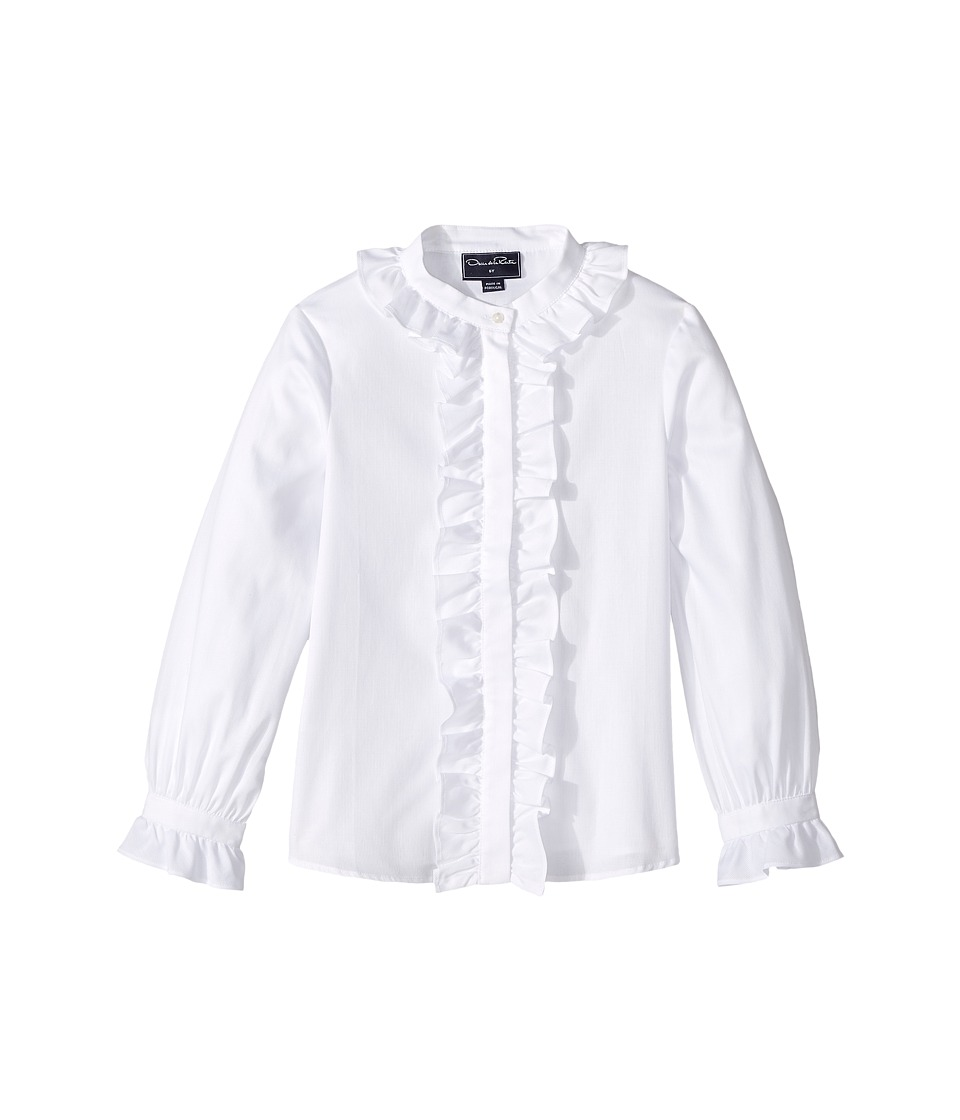 Oscar de la Renta Childrenswear - Cotton Ruffle Blouse