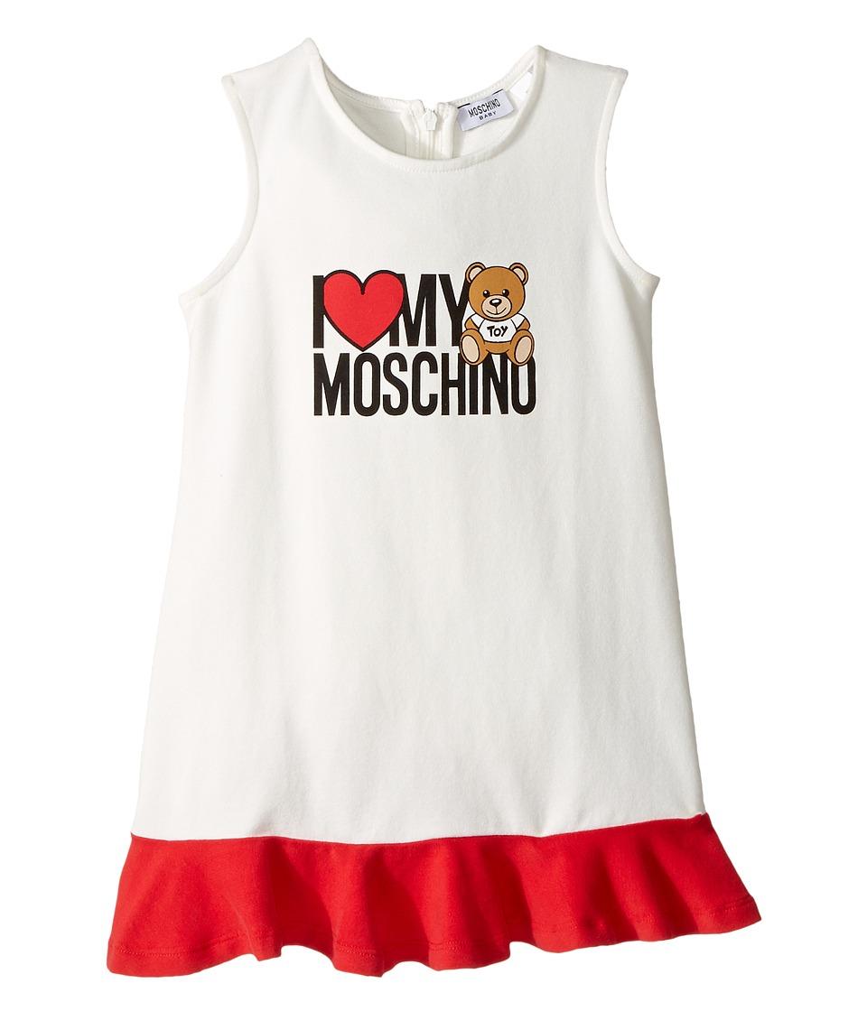 Moschino Kids - 'I Love My Moschino' Teddy Bear Sleeveless Dress