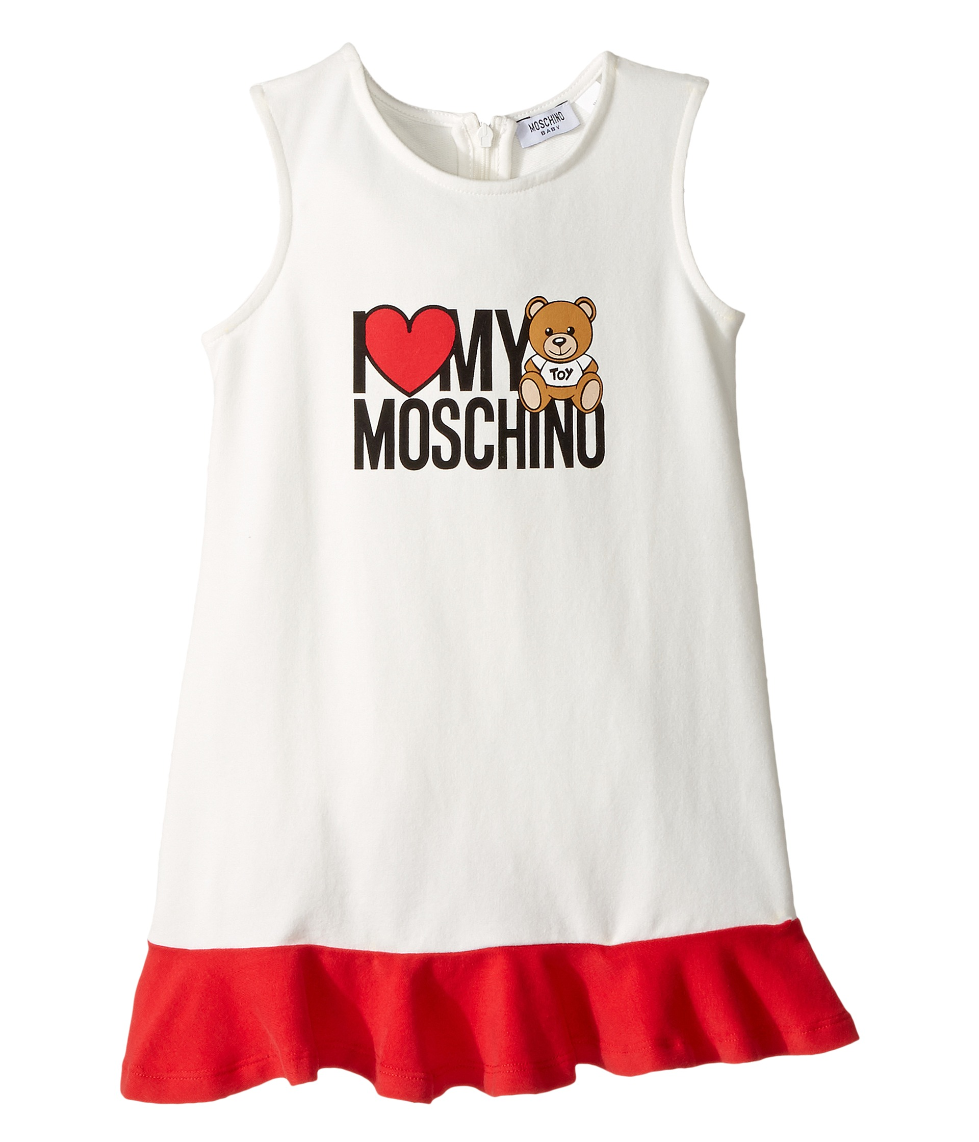 moschino kids 39 i love my moschino 39 teddy bear sleeveless dress infant toddler at. Black Bedroom Furniture Sets. Home Design Ideas