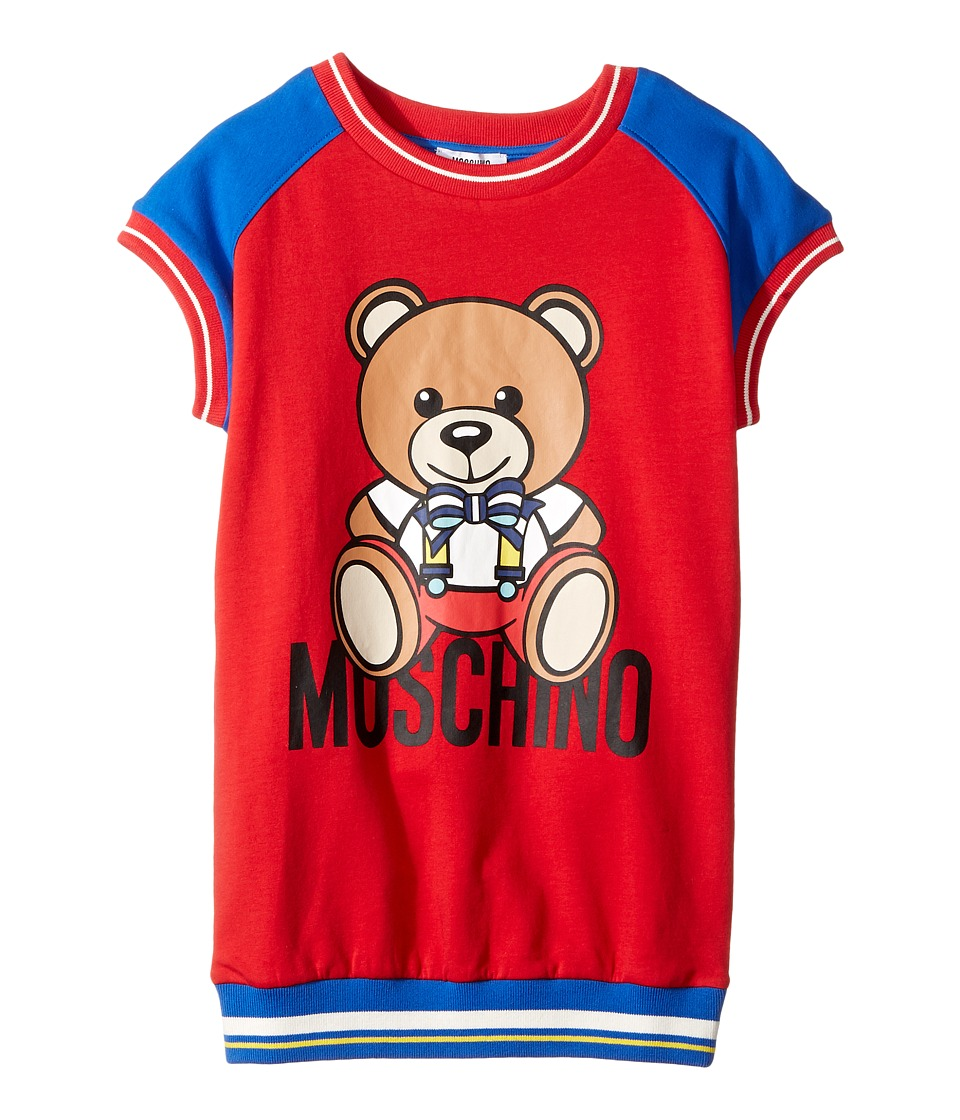 Moschino Kids - Short Sleeve Color Block Graphic Dress