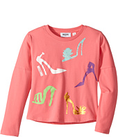 Moschino Kids - Long Sleeve High Heels Graphic T-Shirt (Little Kids/Big Kids)