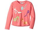 Moschino Kids Long Sleeve High Heels Graphic T-Shirt (Little Kids/Big Kids)