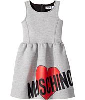 - Sleeveless Neoprene Heart Logo Dress  Gray