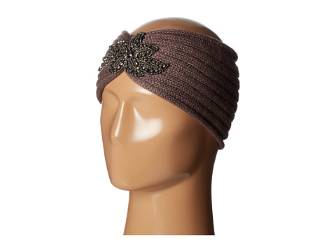 SCALA Knit Headband w/ Beads - Taupe