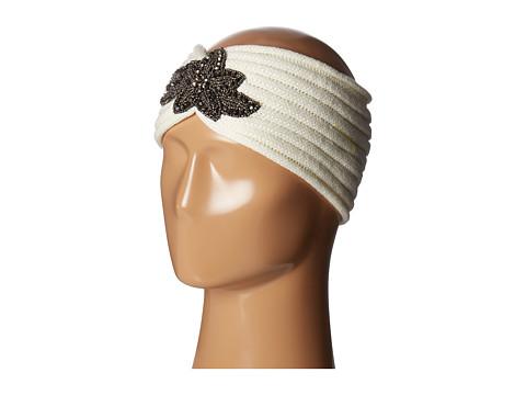 SCALA Knit Headband w/ Beads - Ivory