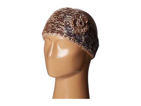 SCALA Knit Headband w/ Flower - Brown