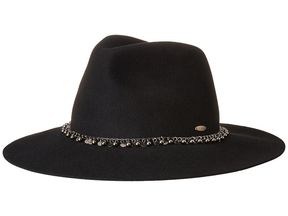 SCALA - Wool Felt Rancher w/ Metal (Black) Caps