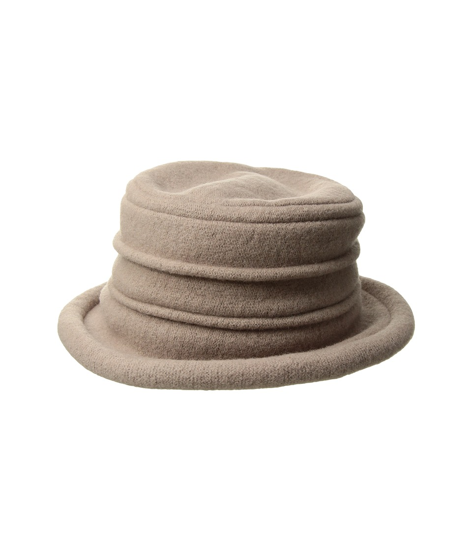 SCALA - Packable Wool Felt Cloche (Taupe) Caps