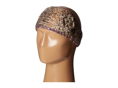 SCALA Knit Headband w/ Flower - Grey