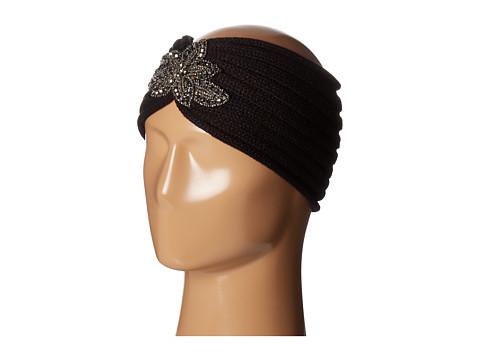 SCALA Knit Headband w/ Beads - Black