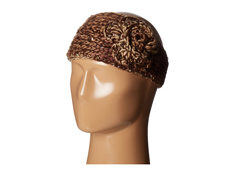 SCALA Knit Headband w/ Flower - Chocolate