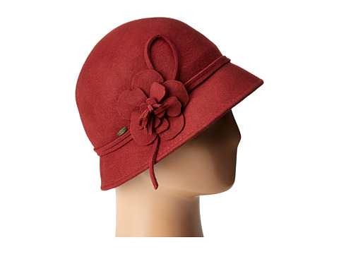 SCALA Wool Felt Cloche w/ Flowers - Cinnamon