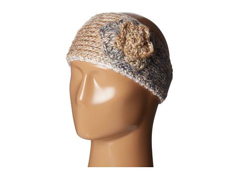 SCALA Knit Headband w/ Flower - Ivory