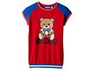 Moschino Kids Short Sleeve Color Block Graphic Dress (Big Kids)