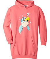 - Dress w/ Hood and Logo Face Graphic on Front  Pink