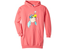 Moschino Kids Dress w/ Hood and Logo Face Graphic on Front (Big Kids)