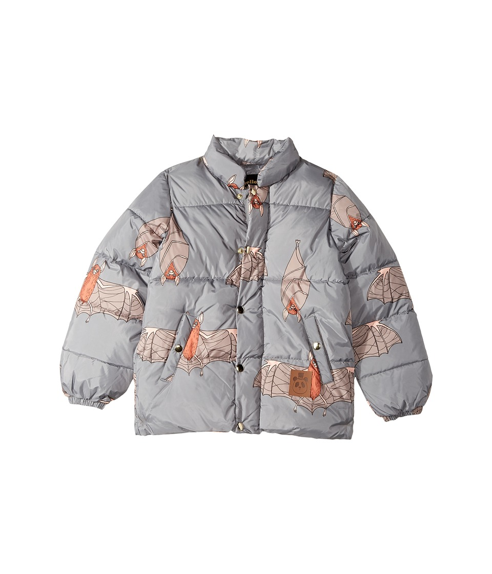 mini rodini - Bat Puffy Jacket (Toddler/Little Kids/Big Kids) (Grey) Boys Coat