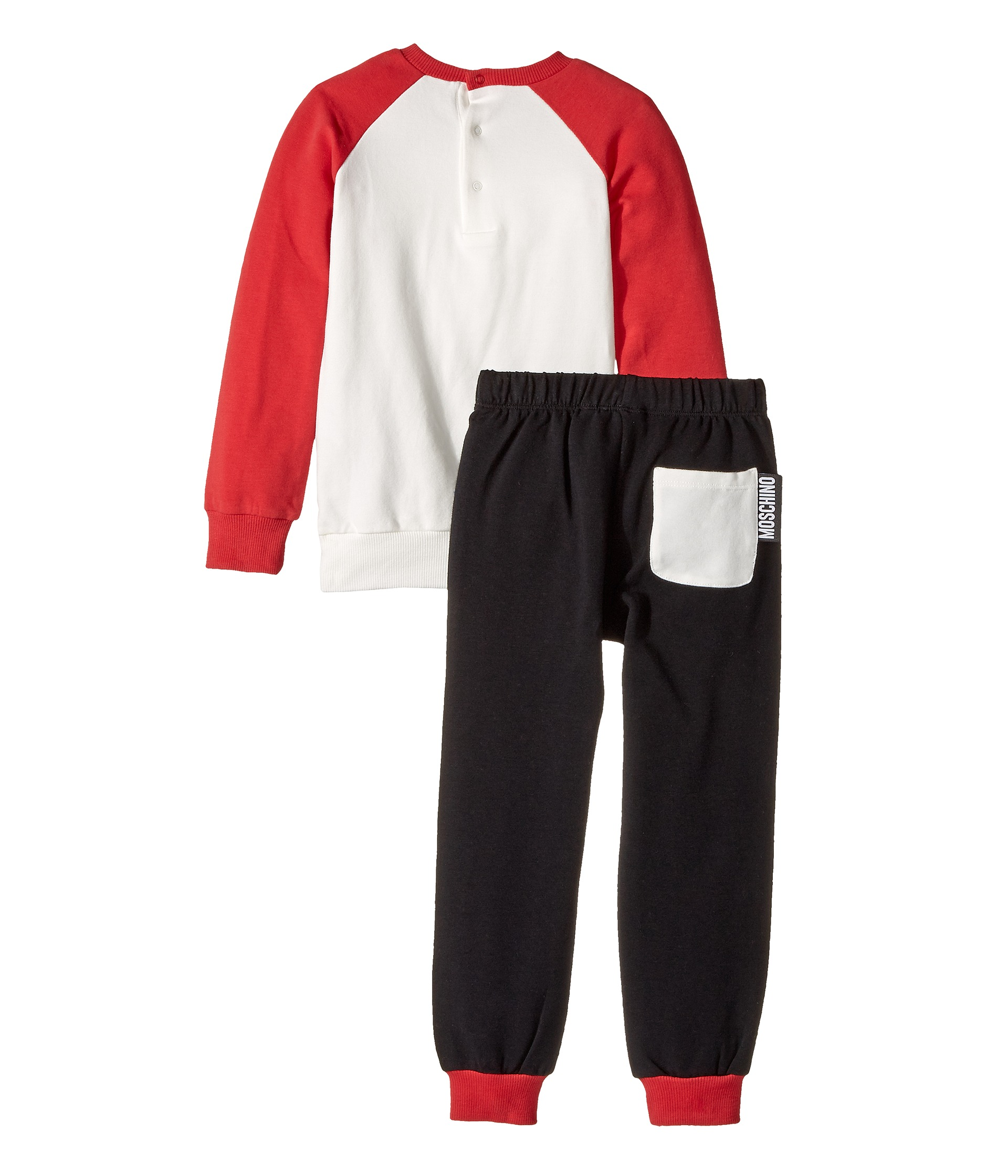 moschino kids 39 i love moschino 39 teddy bear sweat top pants infant toddler at