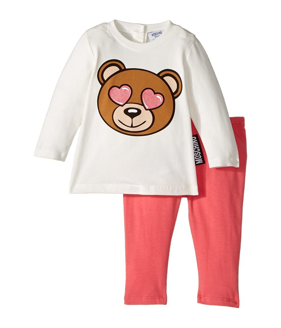 Moschino Kids - Teddy Bear Heart Eyes T-Shirt Leggings Set