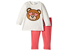 Moschino Kids Teddy Bear Heart Eyes T-Shirt Leggings Set (Infant/Toddler)