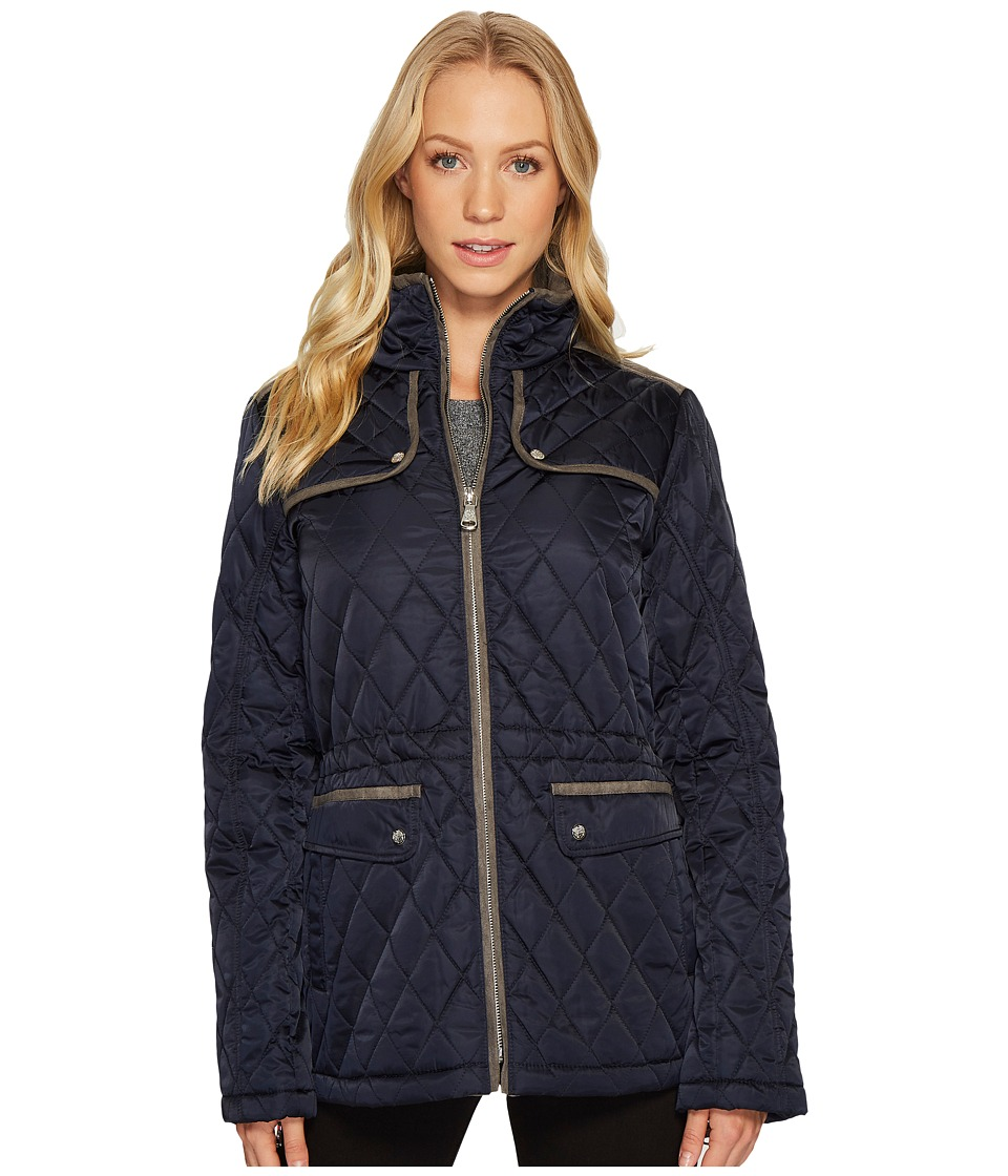 Vince Camuto Quilted Jacket with Faux Suede Contrast Deta...