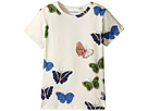 mini rodini Butterflies Short Sleeve Tee (Infant/Toddler/Little Kids/Big Kids)