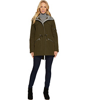 Vince Camuto - Parka with Drawstring Waist and Heathered Ponti Detail N8011
