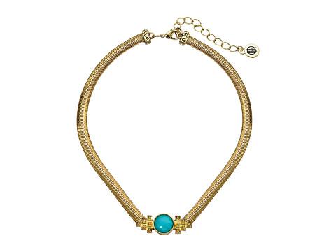 House of Harlow 1960 Nuri Choker Necklace - Gold/Brazilian Amazonite