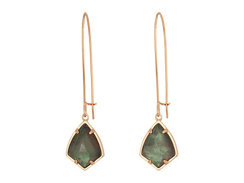 Kendra Scott Carinne Earrings - Rose Gold/Crystal Gray Illusion