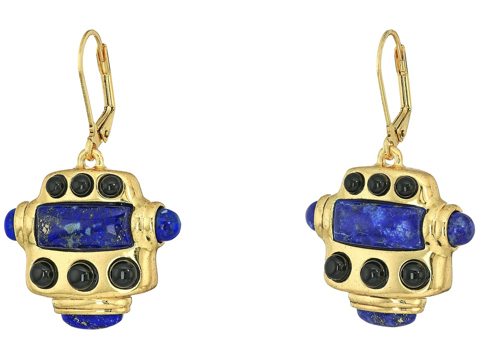 House of Harlow 1960 - Ulli Statement Earrings (Gold/Lapis) Earring