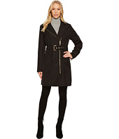 Vince Camuto - Belted Asymmetrical Zip Trench N8711