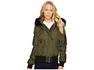 Vince Camuto Down Bomber with Faux Fur Hood N8331