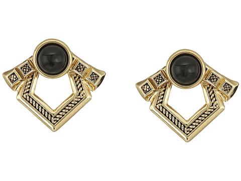 House of Harlow 1960 Patolli Ear Jacket Earrings - Gold/Black