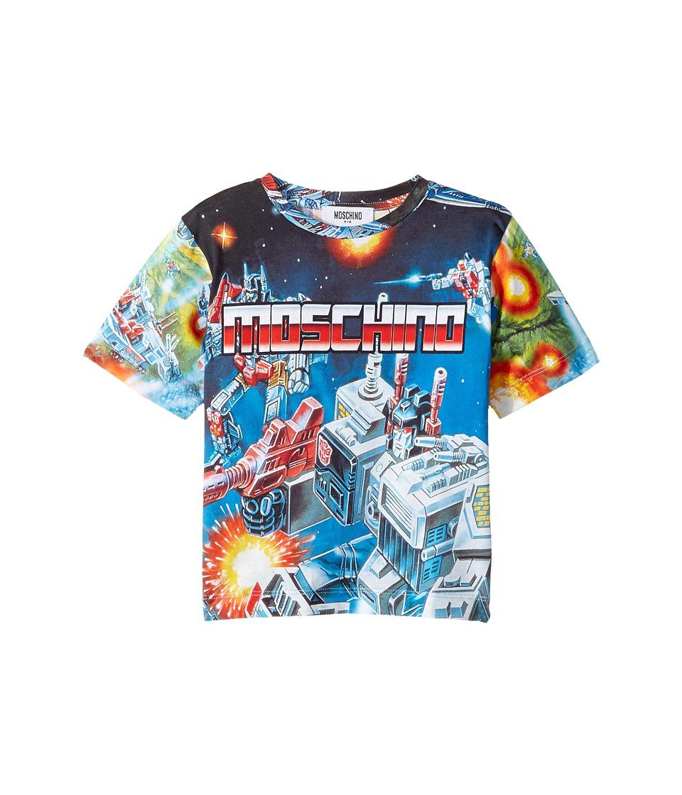 Moschino Kids - Transformers Digital Print Short Sleeve T-Shirt