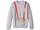Moschino Kids Teddy Bear Logo Suspender Sweat Top (Infant/Toddler)