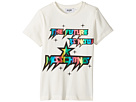 Moschino Kids Short Sleeve 'The Future Is Now' Logo T-Shirt (Little Kids/Big Kids)