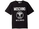 Moschino Kids - Short Sleeve T-Shirt w/ Logo on Front (Big Kids)