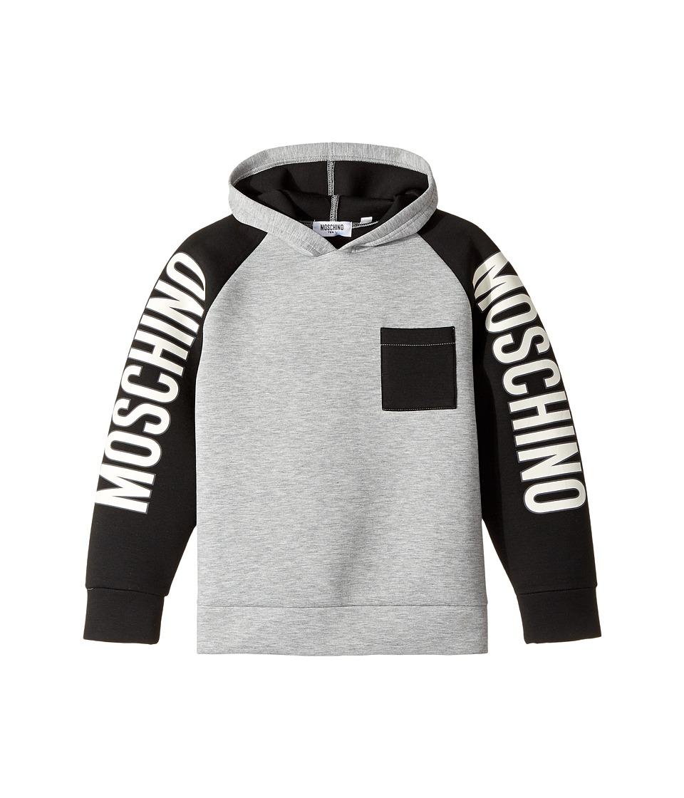 Moschino Kids - Neoprene Sweat Top w/ Logo Sleeves