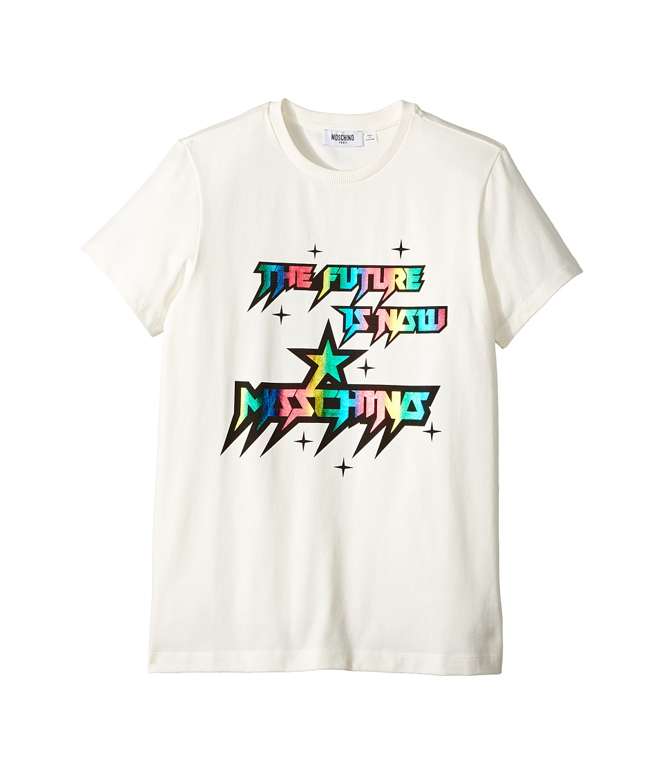 Moschino Kids - Short Sleeve 'The Future Is Now' Logo T-Shirt