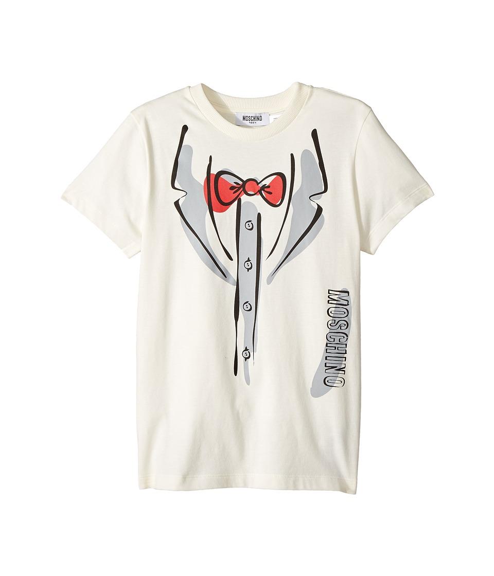 Moschino Kids - Short Sleeve Tuxedo Graphic Logo T-Shirt