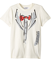 Moschino Kids - Short Sleeve Tuxedo Graphic Logo T-Shirt (Big Kids)