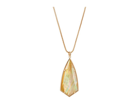Kendra Scott Carole Necklace - Rose Gold/Brown Mother-of-Pearl 1