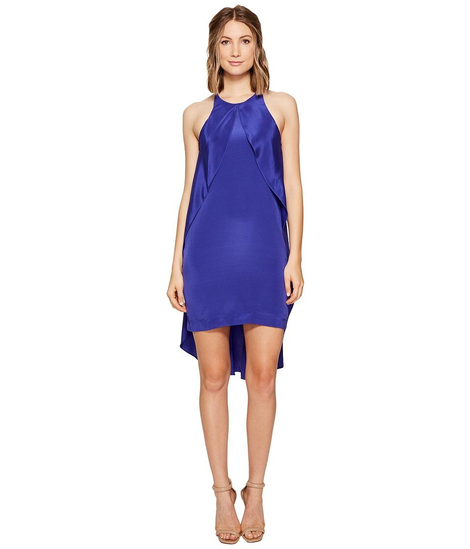 Nicole Miller Fiona Flowing Cape Dress (Blueberry) Women