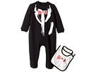 Moschino Kids Tuxedo Romper Bib Gift Box Set (Infant)