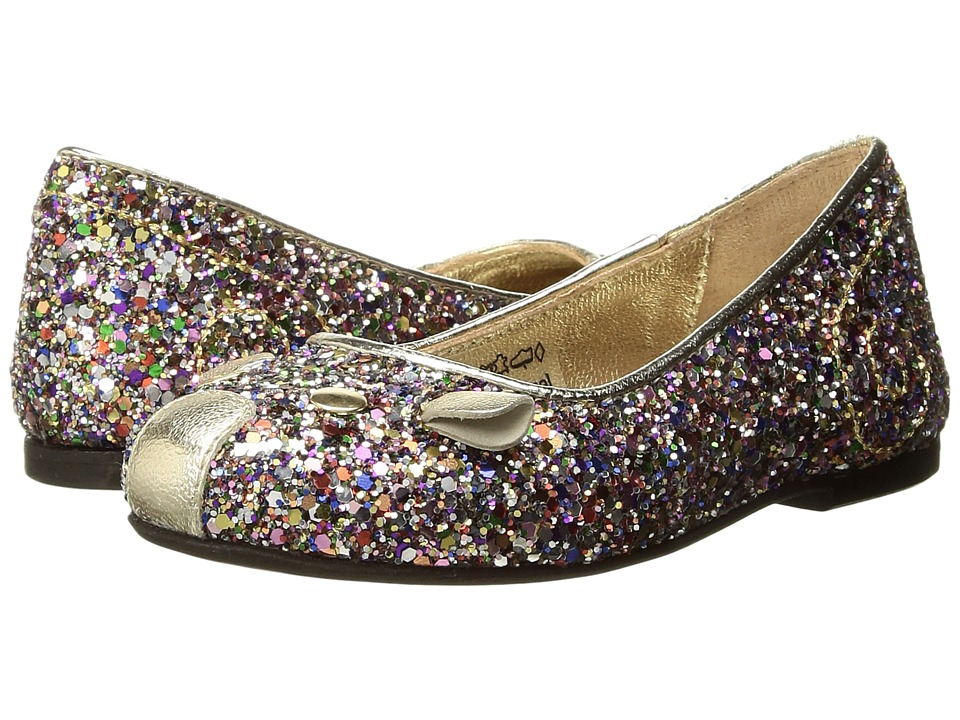 Little Marc Jacobs Glittery Mouse Ballerinas (Toddler) (Unique) Girl