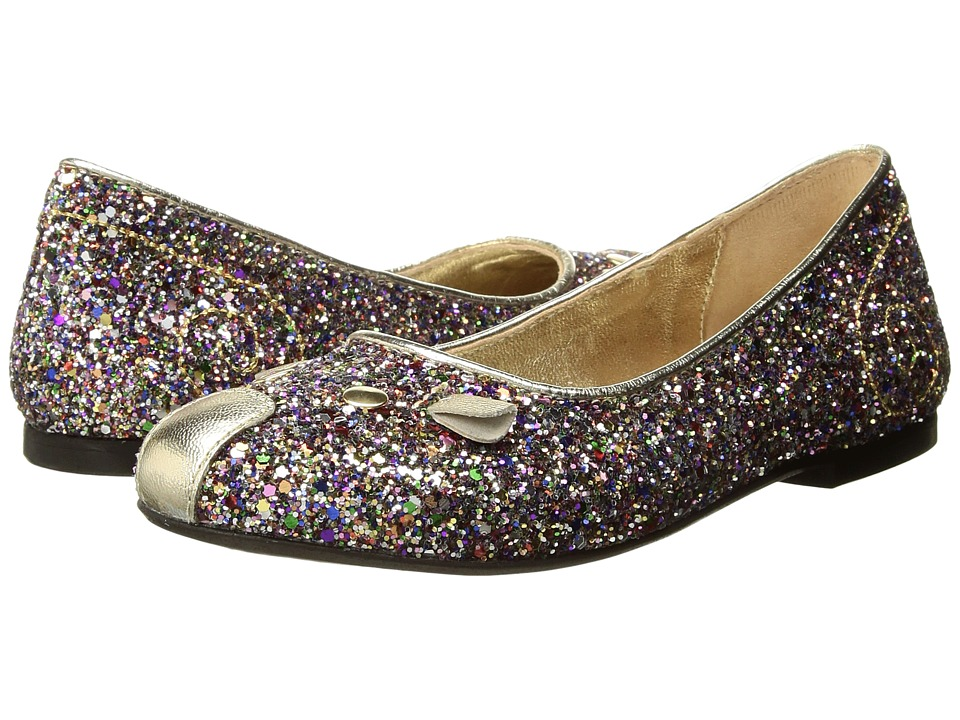 Little Marc Jacobs Glittery Mouse Ballerinas (Toddler/Little Kid/Big Kid) (Unique) Girl