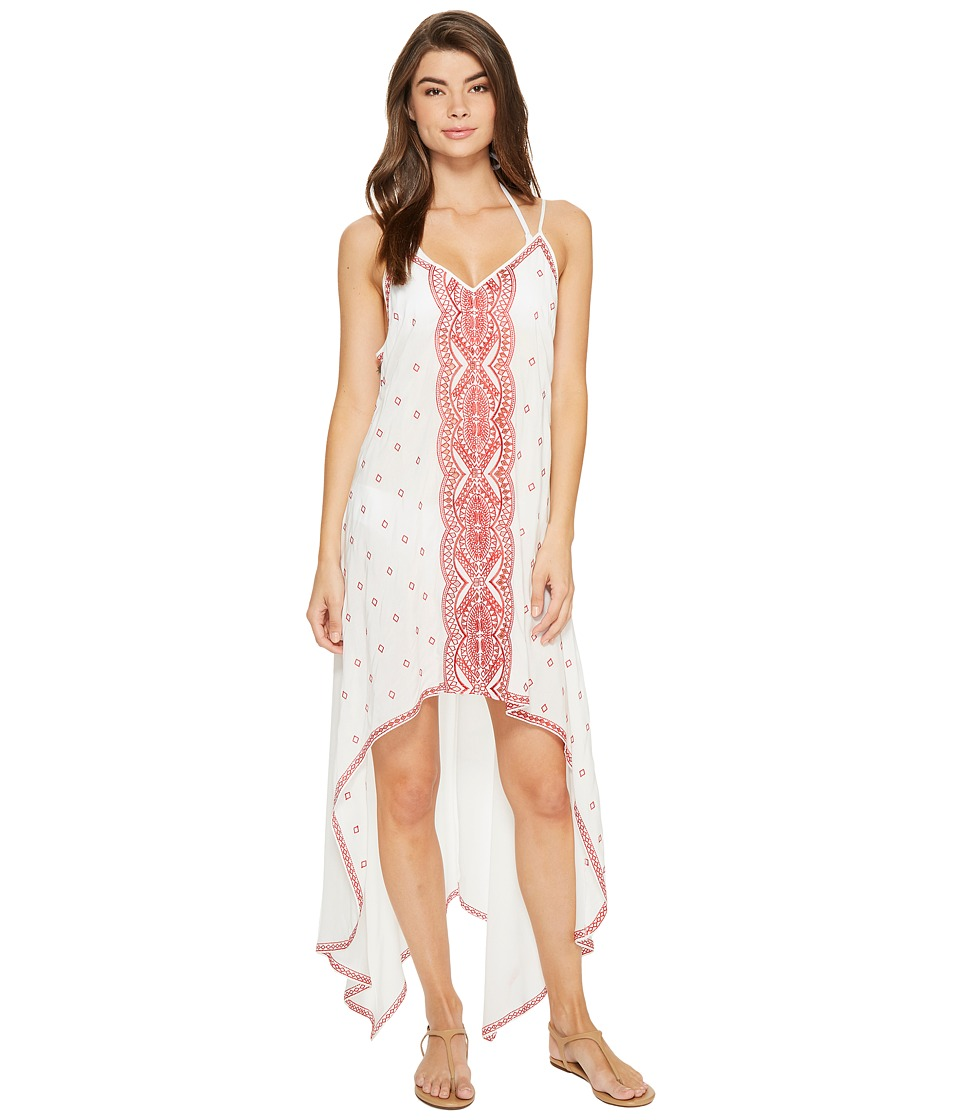 Nicole Miller La Plage By Nicole Miller Embroidered Beach Scarf Dress/Cover-Up (White) Women