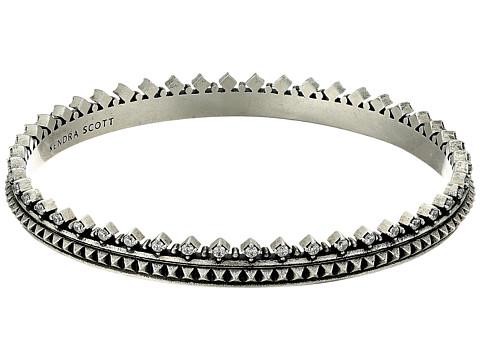 Kendra Scott Mary Caroline Bracelet - Antique Silver Metal/White Cubic Zirconia