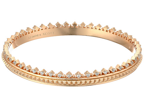 Kendra Scott Mary Caroline Bracelet - Rose Gold Metal/White Cubic Zirconia